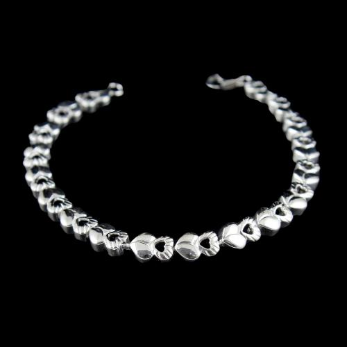 SILVER FLORAL DESIGN LADIES BRACELET