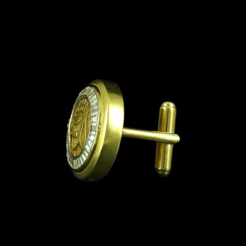 GOLD PLATED CUFFLINK WITH CZ