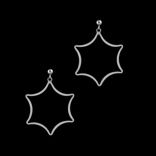 STERLING SILVER STAR DROPS EARRINGS