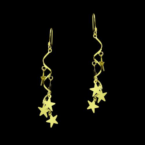 GOLD PLATED HANGING EARRINGS