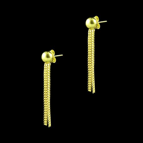 GOLD PLATED DROPS EARRINGS