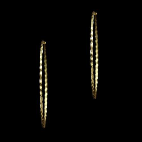 GOLD PLATED BALI EARRINGS