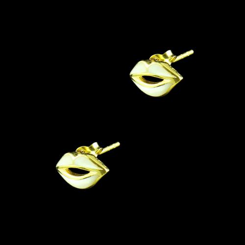 GOLD PLATED SHELL CASUAL EARRINGS