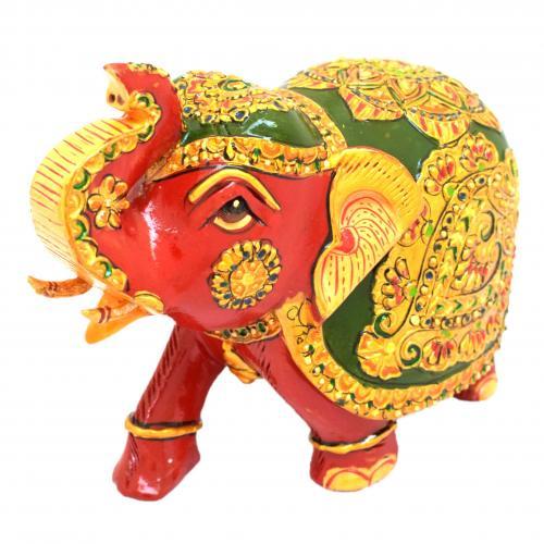 WOODEN ELEPHANT CARVED EMB FINE WORK