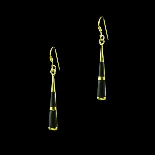 GOLD PLATED MOP HANGING EARRINGS