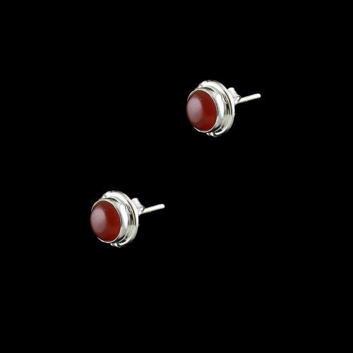 OXIDIZED SILVER SAND STONE EARRINGS