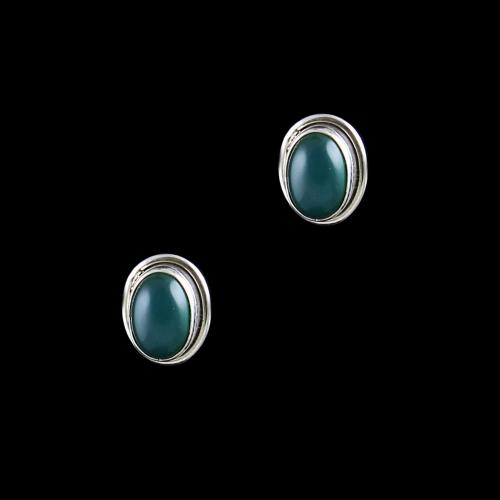 OXIDIZED SILVER ONYX STONE EARRINGS