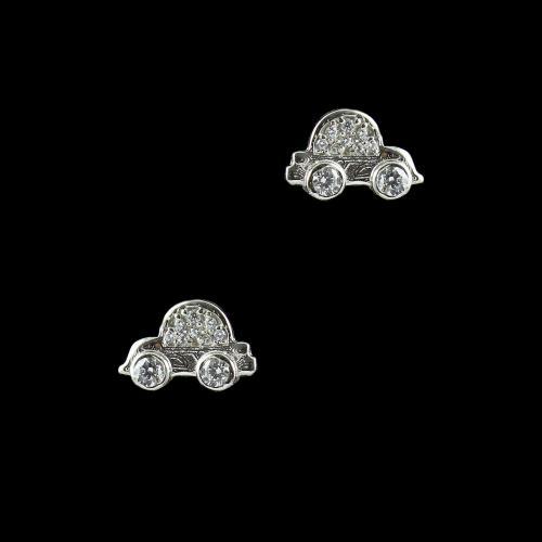 STERLING SILVER CAR EARRINGS
