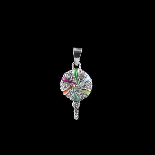 STERLING SILVER CANDY PENDANT