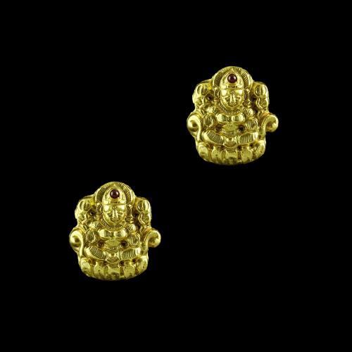 GOLD PLATED LAKSHMI EARRINGS