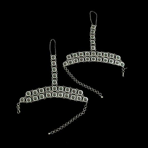 OXIDIZED SILVER BRIDAL ANKLETS