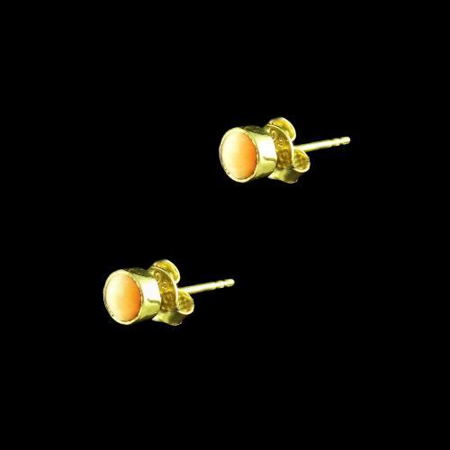 GOLD PLATED MONALISA STONES EARRINGS