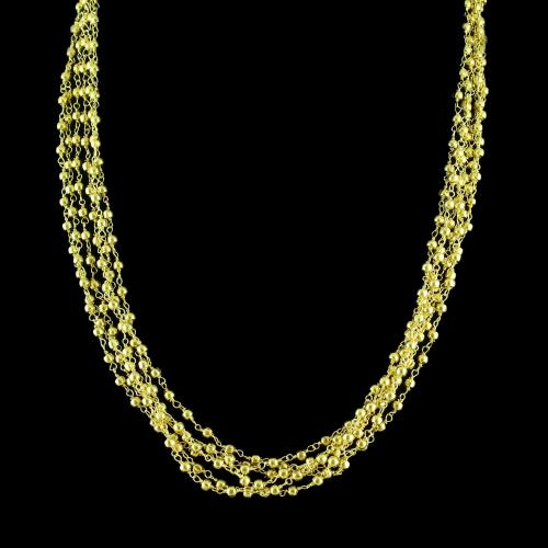 GOLD PLATED BUNCH NECKLACE
