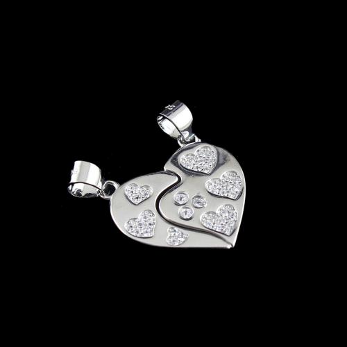 STERLING SILVER HEARTIN COUPLE PENDANT