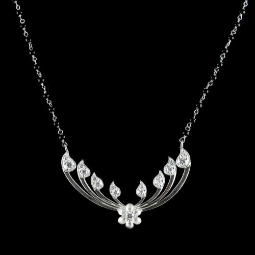 CZ MANGALSUTRA WITH BLACK BEADS