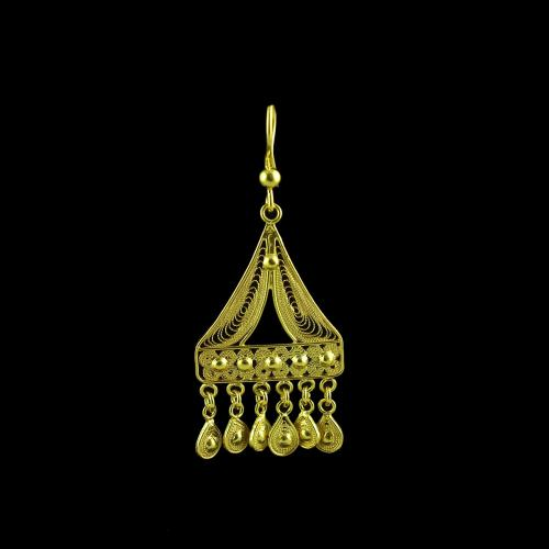 Gold Plated Hanging Earring