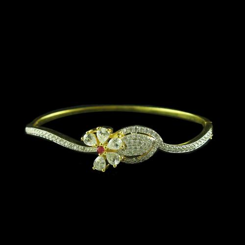 GOLD PLATED CZ SCREW BANGLES