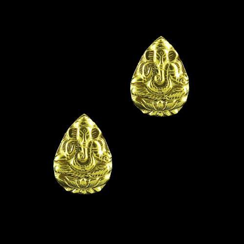 GOLD PLATED GANESHA CASUAL EARRINGS