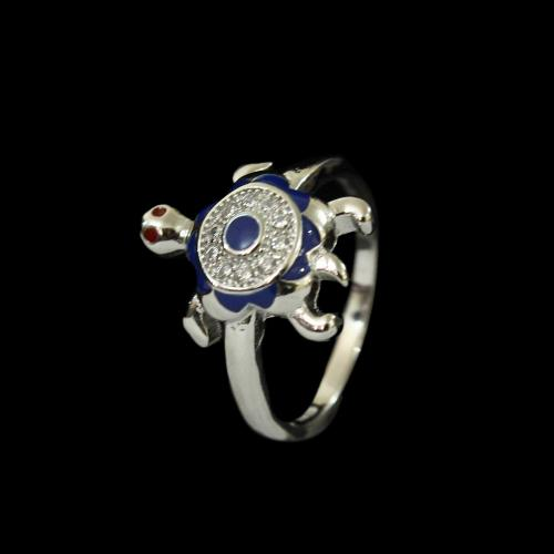 STERLING SILVER TURTLE CZ RINGS
