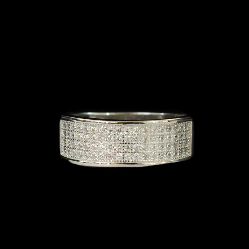 STERLING SLIVER CZ STONE RINGS
