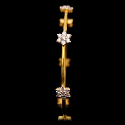 GOLD PLATED FLORA CZ BANGLES