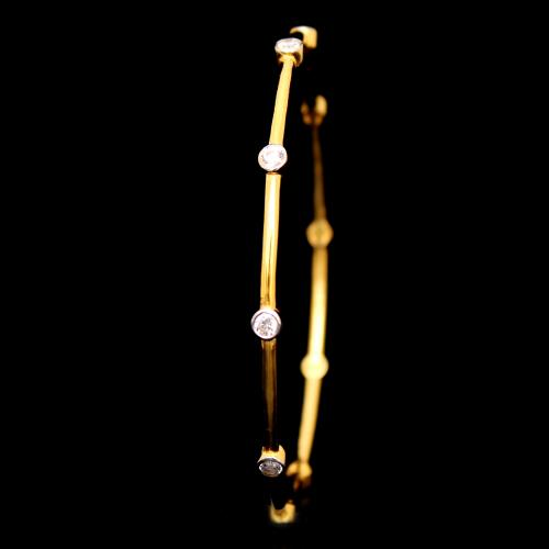 GOLD PLATED CZ BANGLES
