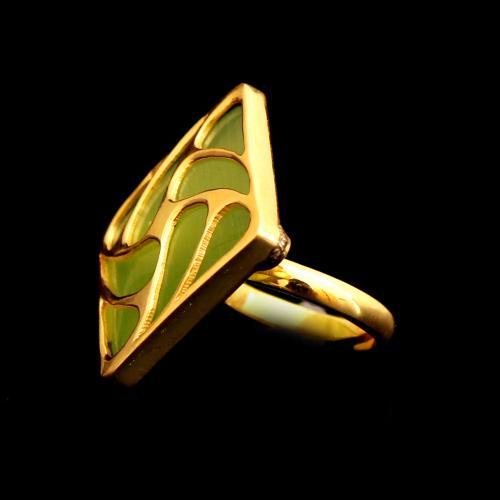 GOLD PLATED MONALISA RING
