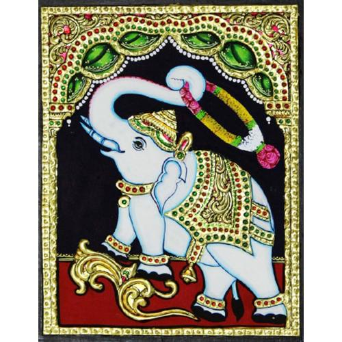 TANJORE PAINTING ELEPHANT