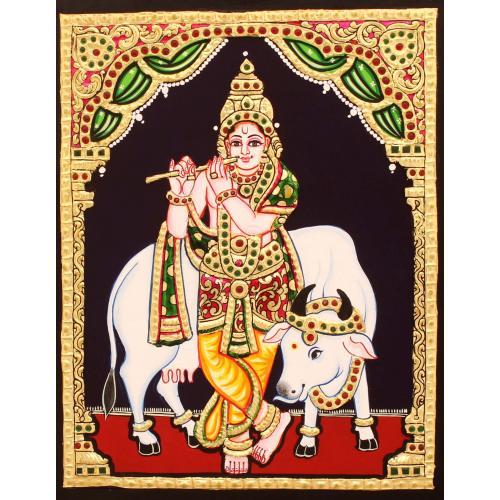 TANJORE PAINTING BUDDHA AVATHARAM