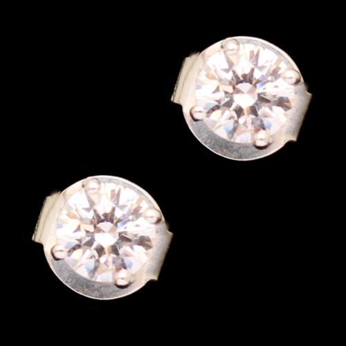 STERLING SILVER CZ STONE DROPS EARRINGS