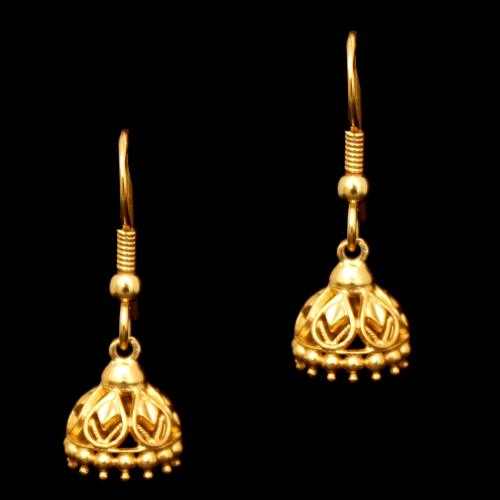 GOLD PLATED HANGING JHUMKAS