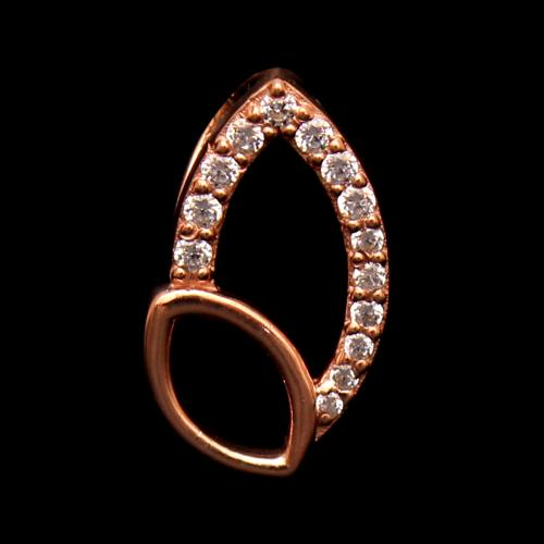 ROSE GOLD PLATED CZ PENDANT