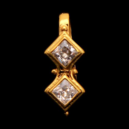 GOLD PLATED CZ NOSE PIN