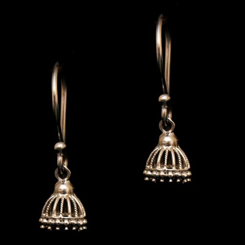 OXIDIZED SILVER  HANGING JHUMKAS EARRING
