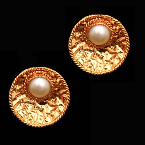 Silver Gold Plated Pearl Tops