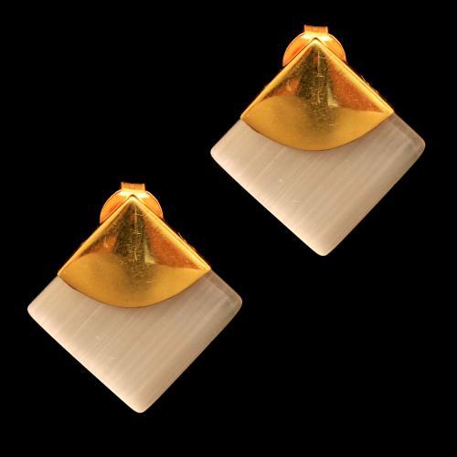 GOLD PLATED MONASILA DROPS EARRINGS