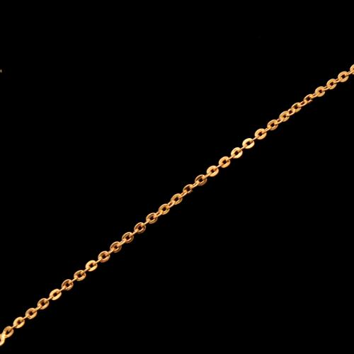 GOLD PLATED JASPER AND CZ PENDANT WITH CHAIN