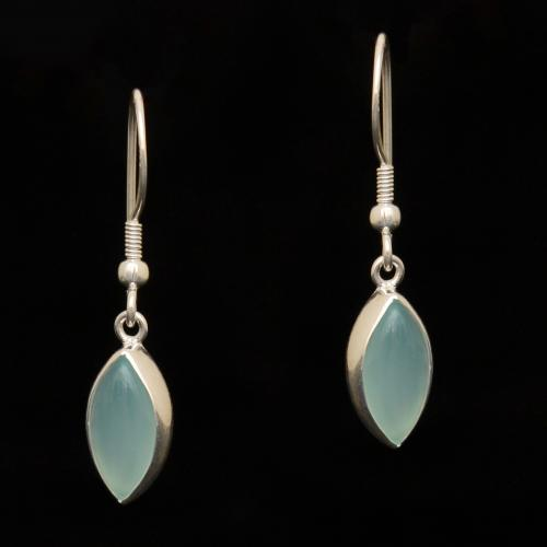 STERLING SILVER ONYX HANGING EARRINGS WITH PEARL BEADS