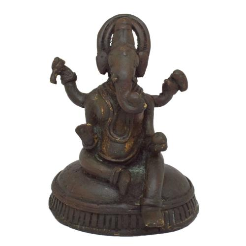 TIKAMGARH BRASS GANESHA SITTING WITH BASE