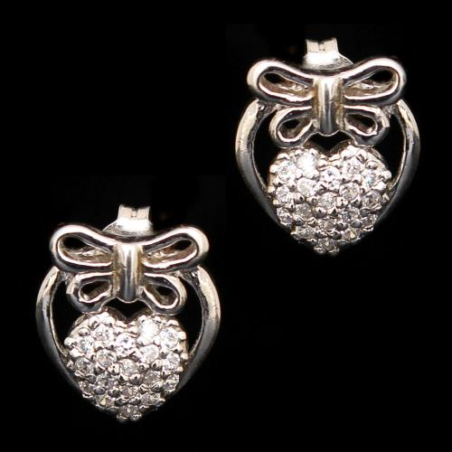 STERLING SILVER CZ EARRINGS