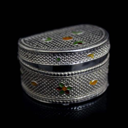 92.5 Sterling Silver Kumkum Box