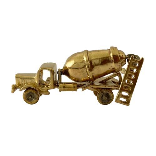 Concrete Mixer Brass Miniature Toy