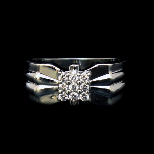 STERLING SILVER CZ MENS RINGS
