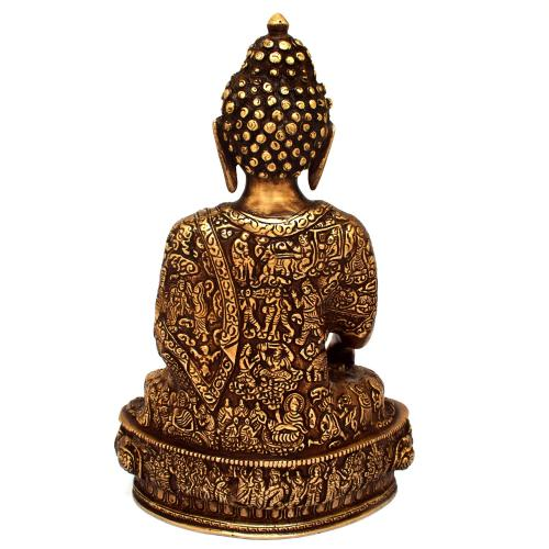 BRASS BUDDHA SITTING SAKHYAMUNI
