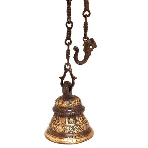 BRASS TEMPLE BELL WITH DASAVTHAR