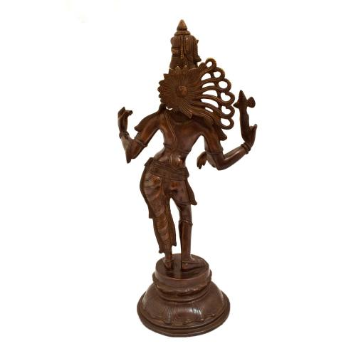 BRASS ARDHANARISHWARA STANDING ON ROUND BASE ANTIQUE