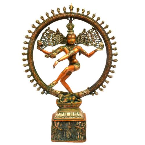 BRASS NATRAJA DANCING WITH MULTI GOD BASE