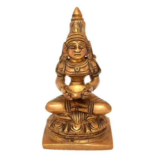 BRASS DEEPA LAKSHMI SITTING ON BASE