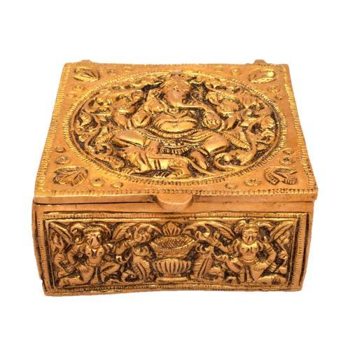 BRASS GANESHA BOX
