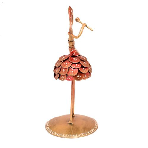 IRON COIN LADY MUSICIAN STANDING